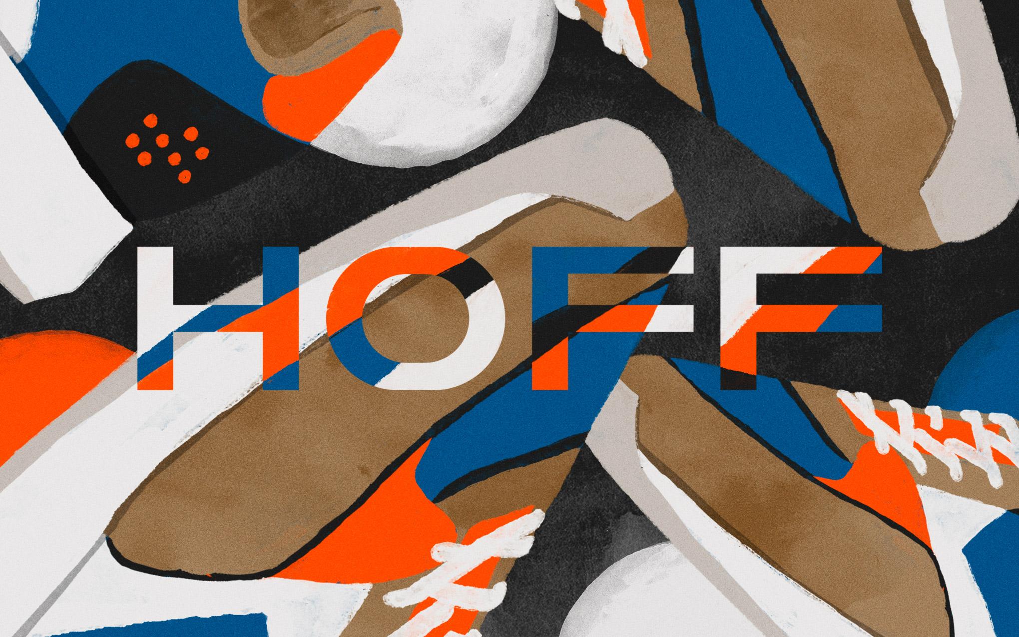 Orange/ blue shoe wide